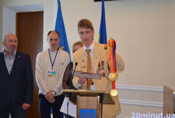 Паралімпійця Віталія Трушева нагородили сертифікатом у 60 тисяч гривень