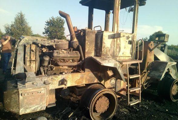 На Кам'янеччині горів трактор