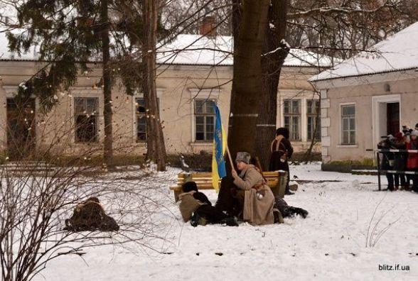 Кам'янчани взяли участь у відтворенні бою на станції Крути