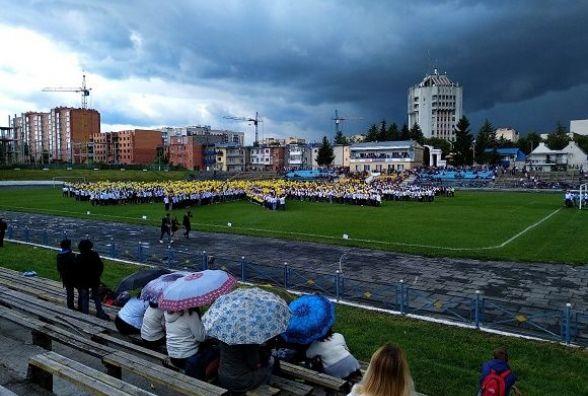 День міста із рекордом України – у Кам'янці 3 000 людей сформували живий герб (РЕПОРТАЖ)