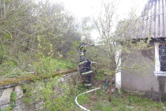 На Кам'янеччині горіла будівля. Постраждалих немає (ФОТО)
