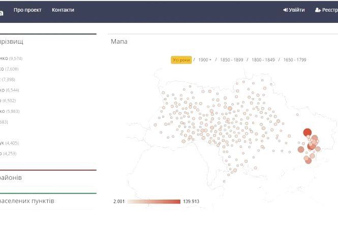 Кам'янчани можуть знайти тезок за прізвищем в Інтернеті