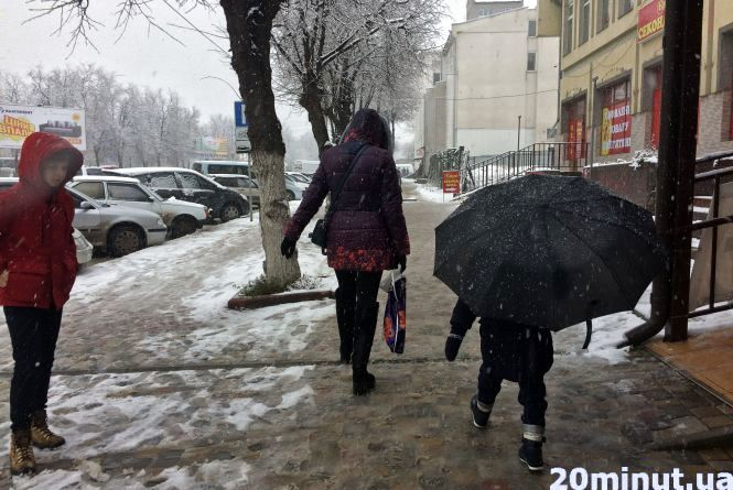 Фото дня: Кам'янець - Подільський присипало снігом