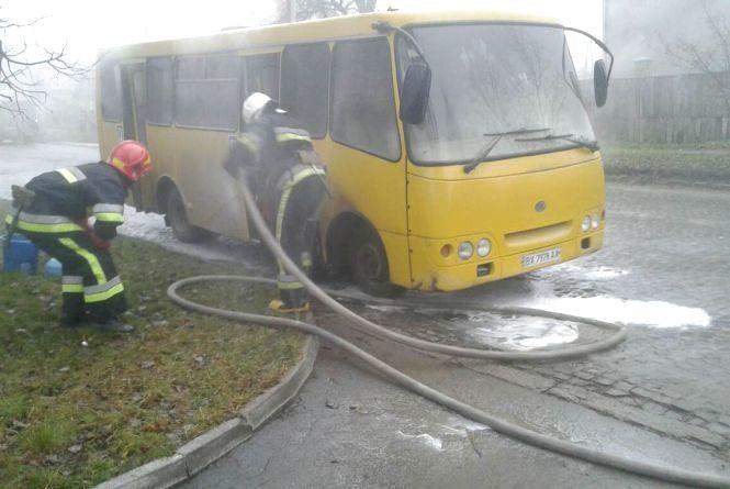 У Кам'янці загорілась маршрутка (ФОТО)