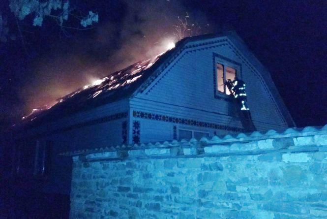 Рятувальники гасили житловий будинок на Кам'янеччині