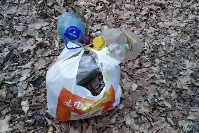 Волонтери Кам'янця поділилися першими результатами прибирання лісу (ФОТО)